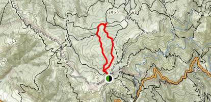 Simmons Trail to Potrero Camp Map