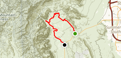 Red Rocks Back Country Byway Map
