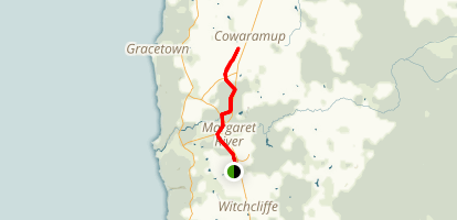 Busselton - Flinders Bay Rail Trail Cowaramup Section Map