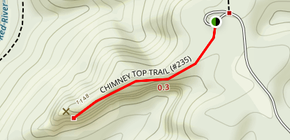 Chimney Top Creek Map
