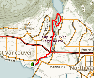 Capilano Pacific Trail Map