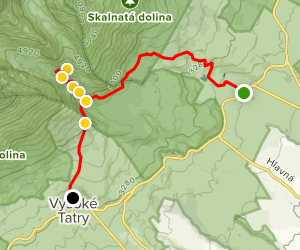 Vysoké Tatry Waterfall Hiking Tour  Map