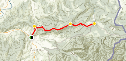 Skorusina Peak Trail Map