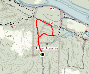 Blue Fraser Preserve Loop Trail Map