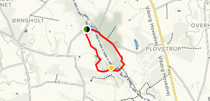Hammer Mølle Rød Red Route no. 13 Map