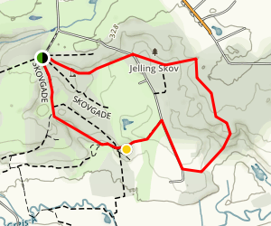 Jelling Woodland Trail Jelling Skov Map