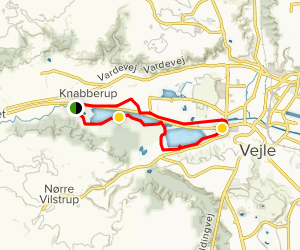 Kongens Kær - Knapperup Sø Trail Map