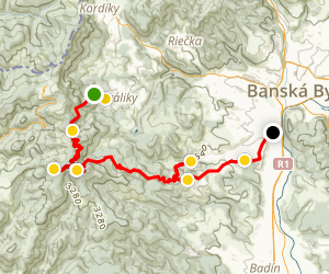 Kordiky Village to Banska Bystrica City Trail Map