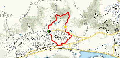 Slelde/Østengård Trail Map