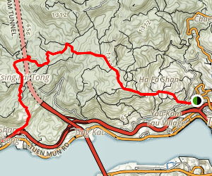 Yuen Tsuen Ancient Trail (元荃古道半程) Map