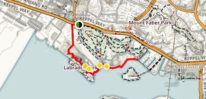 Labrador Park to Harborfront Walk Map