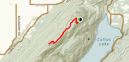 Vedder Mountain Ridge Trail Map