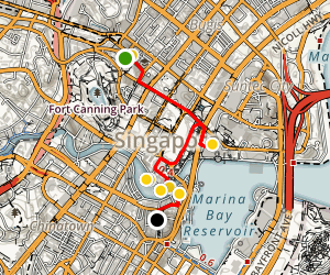 Singapore Arts and Culture Walking Tour Map