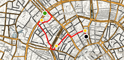 Moscow Off-the-Beaten Path Walking Tour Map