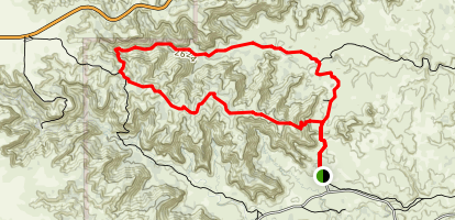 Haynes Ridge and Upper Canyon Trail Loop Map