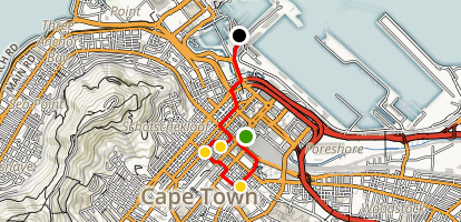 Cape Town Highlights Walking Tour Map