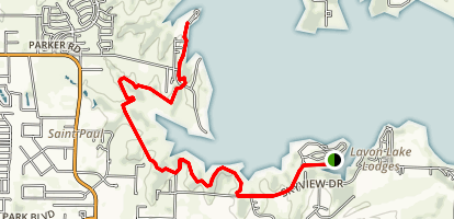 Lake Lavon via Trinity Trail Map