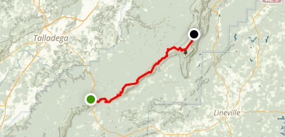 Pinhoti Trail: Porters Gap to Cheaha State Park Map