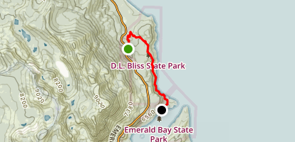 Tahoe Bliss - D.L. Bliss & Emerald Bay State Parks Map