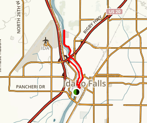 Idaho Falls Greenbelt Loop Map