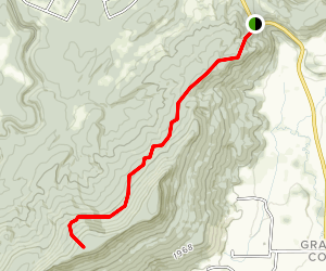 Cumberland Trail - Grassy Cove Section Map
