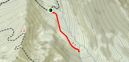 Hansen Creek Trail Map