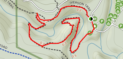 Iverson and Sequoia Nature Loop Trail Map