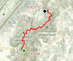Skyline Drive: Thornton Gap to Gooney Overlook Map