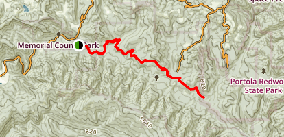 Pomponio Trail Map
