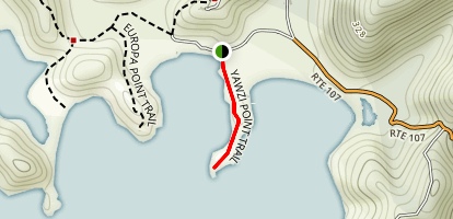 Yawzi Point Trail Map