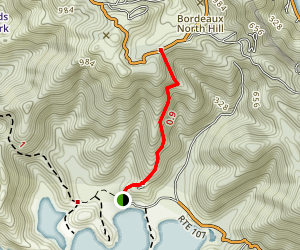 Bordeaux Mountain Trail Map