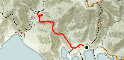 Lameshur Bay Trail Map