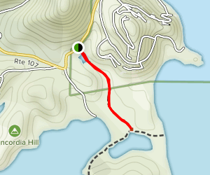 Saltpond Bay Trail Map