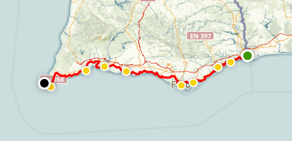 Algarve Coastal Route Map