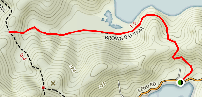 Brown Bay Trail Map