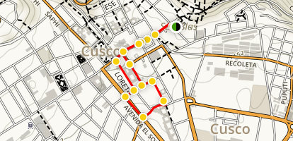 Cusco Walking Tour Map