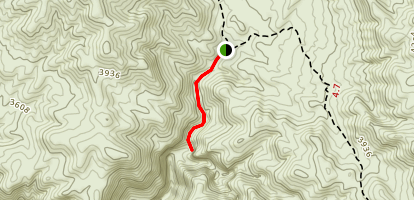Monarch Canyon/Mine Trail Map