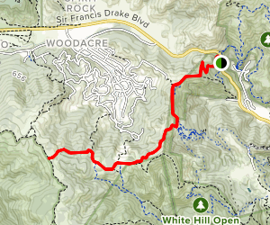 White Hill Fire Road Map