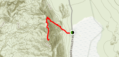 Ubehebe Peak Trail Map