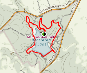 Meridian Lake Loop Trail Map