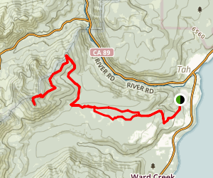 Scott Peak from Rawhide Map