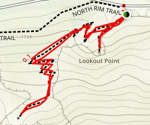 Red Rock Point Via Red Point Trail Map