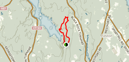 Green Trail to Red Trail to White Trail Loop Map