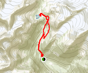 Crow Pass Trail to Crystal Lake and Barnes Mountain Map