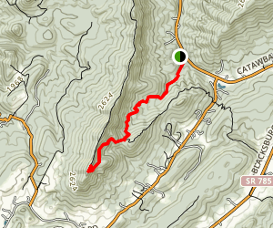 Dragon's Tooth Trail Map