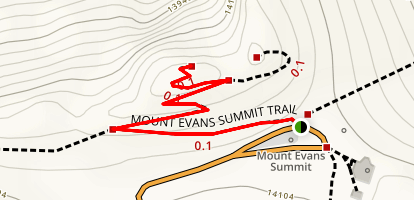 Mount Evans Summit Trail Map