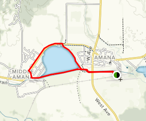 Amana Kolonieweg Trail Map