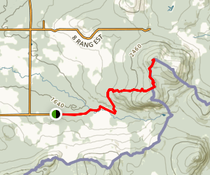 Mont Saddle Trail Map