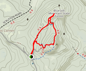 Blue Job Mountain Loop Map