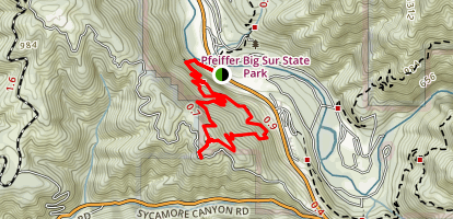 Buzzards Roost Trail (CLOSED) Map